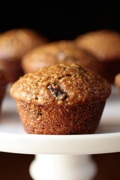 Super moist and delicious, these easy One Bowl Buttermilk Bran Muffins roll out of the oven with rounded, bakery-style, tops! Donut Muffins, Baking Muffins, Mini Muffins, Blueberry Crumb Muffins, Raisin Bran Muffins, Blueberry Breakfast, Breakfast Muffins, Breakfast Cake, Breakfast Recipes