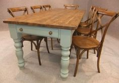 Painted base table. 'The Cotswold Farmhouse Range'. Please quote table reference: The Winchcombe. A fantastic pine table with a chunky 40mm top made from...