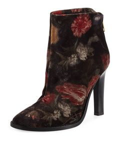 Blayze+Floral+Velvet+Bootie,+Floral+by+Joie+at+Neiman+Marcus.