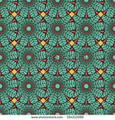 Seamless pattern of lotus mandala. Repeatable background for print, wallpaper, wrapping, packaging, fabric design.