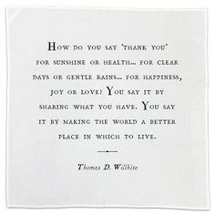 Gratitude Cotton Napkins