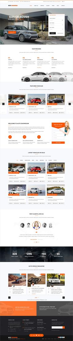 Auto showroom is clean and modern design responsive #Joomla template for #Car Dealer & Automotive #dealership who sell, buy or lease vehicles website download now..