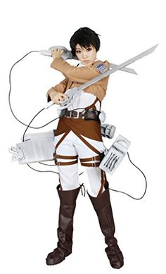 Milica Books Attack on Titan/The Survey Corps Levi Cosplay Costume-Size M