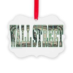 Wall Street Ornament on CafePress.com