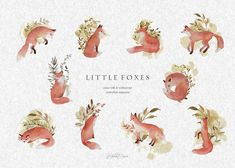 little foxes by DigitalDream on @creativemarket