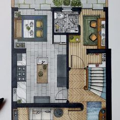 Interior Design Drawings of a Victorian House design sketches floor plans Interior Architecture Drawing, Interior Design Renderings, Plans Architecture, Architecture Concept Drawings, Architecture Sketchbook, Interior Rendering, Interior Sketch, Famous Architecture, Classical Architecture