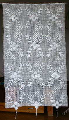 Peacock Curtains, Floral Curtains, Cotton Curtains, White Lace Curtains, Long Curtains, Cafe Curtains, Curtain Shop, White Cafe, Crochet Curtains