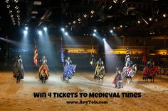 We are giving away 4 tickets to Medieval Times in Buena Park. It's a fun thing to do in Orange County or when you visit California. You can also use the Medieval Times Coupon Code to save. Make it a fun Spring Break activity with the family or friends. www.anytots.com