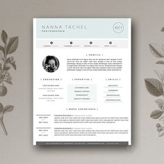 Teacher Resume Template 3 page / CV Template by Botanica Paperie / Professional Resume Template for MS Word / Minimal Resume Design & FREE Cover Letter Cover Letter Template, Cv Template, Letter Templates, Resume Templates, Design Templates, Cv Simple, Simple Resume, Creative Resume, Executive Resume Template
