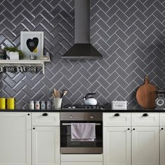 Grafitte Biselado Brillo is a bevel edge, black/grey brick gloss wall tile by Salcamar Vilar. Code STD 021878. Size 10 x 20 cm or 4 x 8 inch Prefect as a kitchen splash back or a traditional bathroom wall tile. Also comes in White, Black, Light Grey, Dark Grey, Sage, Red and Cream colours. Also known as Victorian Metro, Chaple, Biselado, stealth, bevel brick wall tile. We sell the best tiles at cheap prices on-line in the UK with fast nationwide delivery at Ceramic Planet.