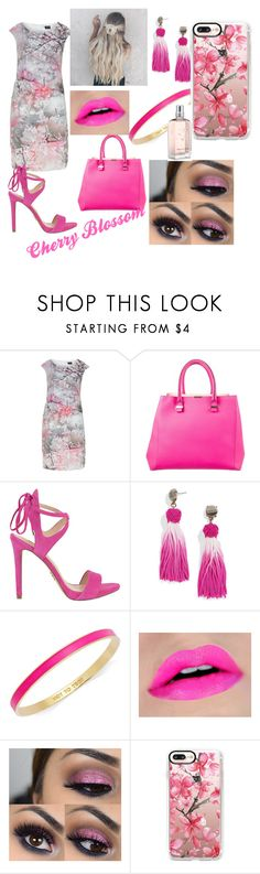 """Cherry Blossom"" by shanitalo ❤ liked on Polyvore featuring Hermann Lange, Victoria Beckham, GUESS, BaubleBar, Kate Spade, Casetify and L'Occitane"