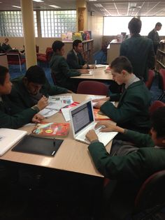 Students working on their projects during Lunchtime