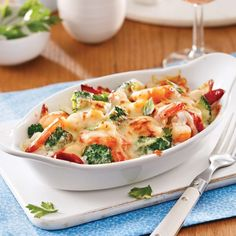 Gratin de fruits de mer et brocoli