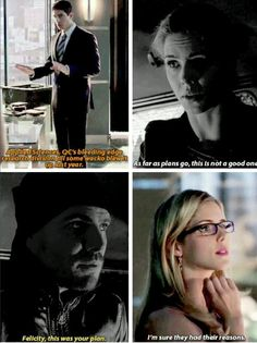 Arrow - Ray, Felicity and Oliver #2.19 #3.3 > I laughed and laughed at this.