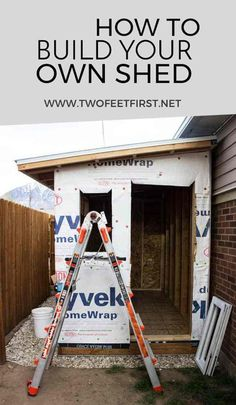Kier her! Are you wondering how to build a lean-to roof for a shed? Here is how you can build one plus the whole process of building a shed. Build A Shed Kit, Build Your Own Shed, Shed Building Plans, Shed Kits, Diy Shed, Building A Deck, Building Ideas, Building Design, Lean To Shed Plans