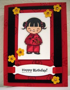 Hero Arts Asian Dolls by Patti Lee - Cards and Paper Crafts at Splitcoaststampers