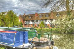 Aldermaston Wharf on the Kennet & Avon Canal in Berkshire, England