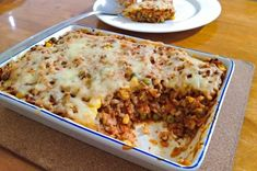 This mince bake is a frugal one-dish meal that's packed with vegetables. Eat now or cook a double batch and freeze for later. Mince Dishes, Beef Dishes, Casserole Dishes, Casserole Recipes, Beef Casserole, Mince Recipes, Savoury Recipes, Gf Recipes, Potato Recipes