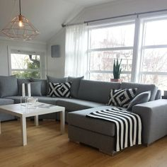 Lounge Room Friheten Sofa Bed, Living Room Furniture, Living Rooms, Modern Living, My Dream Home, Guest Room, Living Room Designs, My House, Theatre