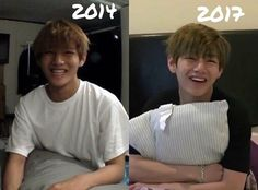 Taehyung then and now