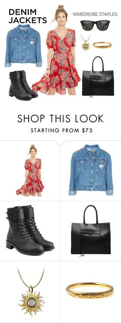 """""""Denim Jacket"""" by tugces ❤ liked on Polyvore featuring Denim & Supply by Ralph Lauren, Topshop, Philosophy di Lorenzo Serafini, Rebecca Minkoff, Carrera y Carrera, Ray-Ban, denimjackets and WardrobeStaples"""