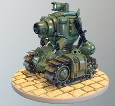 Metal Slug Tank, Evgeny Fedotov on ArtStation at https://www.artstation.com/artwork/metal-slug-tank-e3d06663-eff1-4503-a1d7-e53f5076b3c0