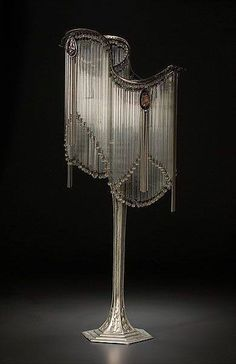 Art Nouveau - Lampe - Hector Guimard - 1905 Maybe one of those transition pieces, looks more Art Deco