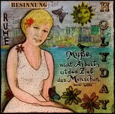 Mixed Media - Art Journal 1: Porträt Jane - Muße - v. skonea 2016