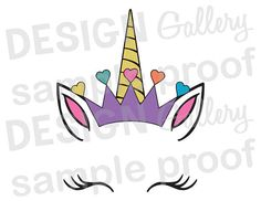 Silhouette Cameo, Silhouette Files, Unicorn Birthday Parties, Unicorn Party, Baby Avengers, Face Images, Unicorn Face, Cricut Vinyl, Vinyl Crafts