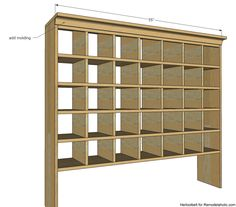 Inspired by a vintage mail sorter, this DIY shoe cubby is the perfect piece of furniture to help you wrangle shoes. Build A Shoe Rack, Shoe Rack Plans, Wood Shoe Rack, Diy Shoe Rack, Shoe Cubby, Diy Shoe Storage, Storage Design, Woodworking Basics, Woodworking Plans