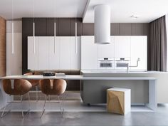 Minimal yet Elegant Kitchen Design Ideas - The Architects Diary Minimal Kitchen Design Inspiration is a part of our furniture design inspiration series. Minimal Kitchen design inspirational series is a weekly showcase White Kitchen Interior, Interior Design Kitchen, Kitchen Decor, Kitchen Ideas, Kitchen Time, Diy Kitchen, Home Design, Modern Design, Minimal Kitchen Design