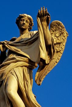 Angel with the Sudarium, Ponte Sant'Angelo, Rome, Italy.