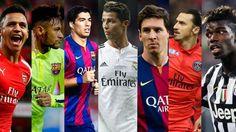 Los mejores 20 jugadores de futbol del mundo