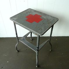 Red Cross Industrial Side Table- Newfound studio