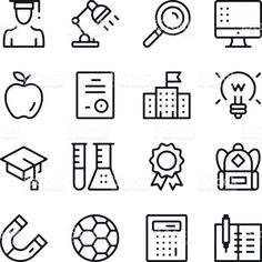 Education line icons set. Modern graphic design concepts, simple outline elements collection. Vector line icons royalty-free education line icons set modern graphic design concepts simple outline elements collection vector line icons stock vector art & more images of icon