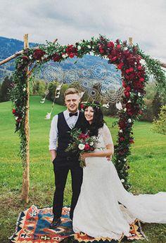 Бохо-свадьба во французских Альпах