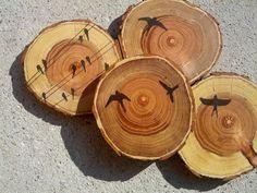 Wood Coasters X 4 by texturemix on Etsy, $30.00