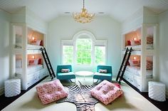 this would be SO NICE for sleepovers - separate room with bunkbeds. (4 of em)