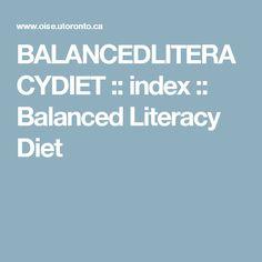 BALANCEDLITERACYDIET :: index :: Balanced Literacy Diet