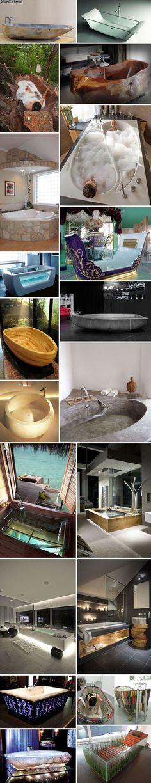 Incredible cool bathtubs.