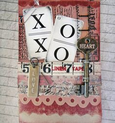 For your true #love :) Find out how to make this #card with @Tim Holtz products & inspiration