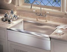"Franke MHX710-36 Manor House 36"" x 20-7/8"" Single Basin Farmhouse 16-Gauge Stain Stainless Steel Fixture Kitchen Sink Stainless Steel"