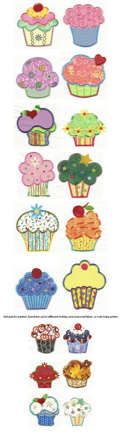 Embroidery | Free machine | Cute as a Cupcake Applique