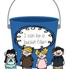 worksheets for your students to write ways they can be a bucket filler....