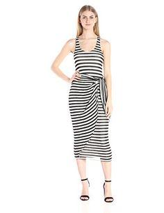 Mara Hoffman Women's Stripe Dress, Black/White, Large- #fashion #Apparel find more at lowpricebooks.co - #fashion