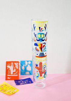 verres ikéa reko illustrés par Camille Epplin Camille, Arizona Tea, Papers Co, Drinking Tea, Paper Cutting, Cards, Illustrations, Colored Paper, Paper Flowers