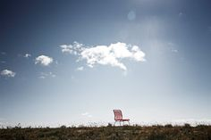 The Panton One chair under a blue, blue Nordic summer sky. #montana #furniture #danish #design #panton #outdoor