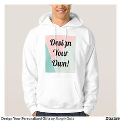 Shop Design Your Personalized Gifts Hoodie created by BanginGifts. Popular Mens Clothing, Best Instagram Photos, Hooded Sweatshirts, Hoodies, Unique Wedding Gifts, White Fashion, Men's Fashion, Personalized Christmas Gifts, Comfortable Fashion