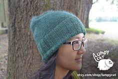 Knitted Green Beanie