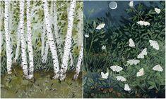 Jag har plockat illustrationerna från beccastadtlander.com. Älskar dem. Kontrasterna. Detaljrikedomen....